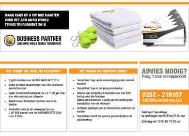 TennisDirect Toernooisponsoring